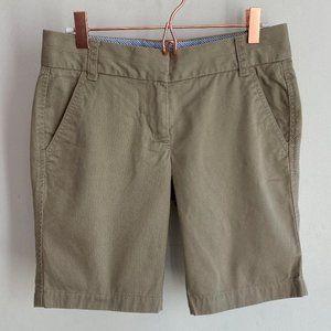 J. Crew Womens Khaki Chino Broken-In Shorts